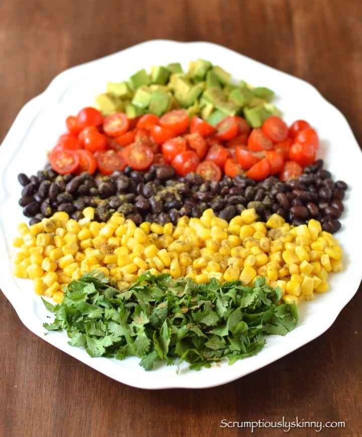... Black Bean & Corn Salad | www.scrumptiouslyskinny.com | #salad #food