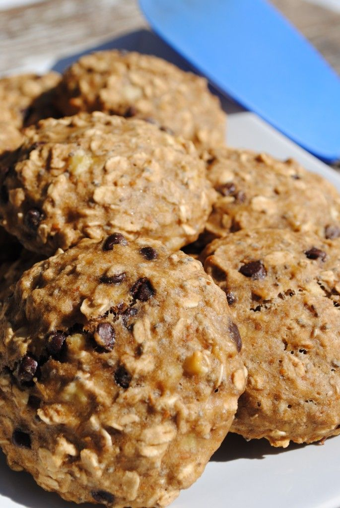 ... Banana Chocolate Chip Oatmeal Cookies, but with white chocolate chips