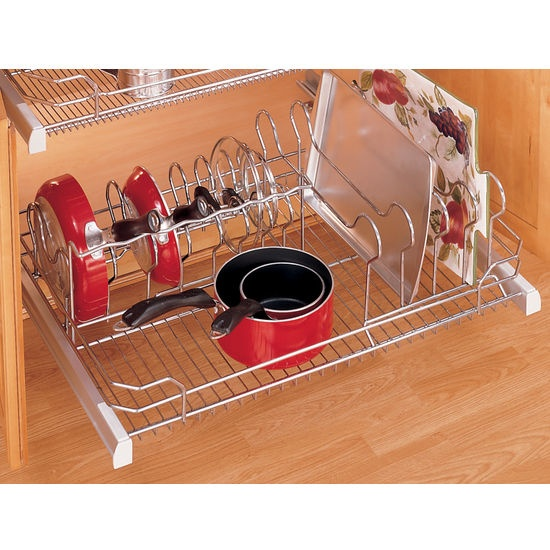 Rev a shelf inchpremiereinch pull out cookware organizer for 36inch w - Cabinet pull out pot rack ...