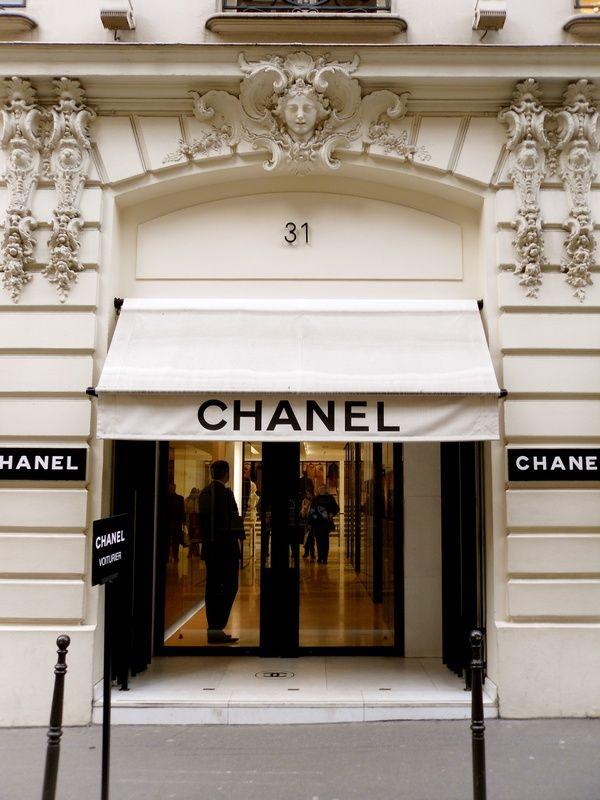chanel storefront paris doors pinterest