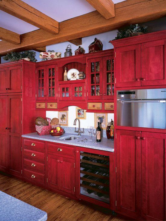 Red Kitchen  Great kitchens  Pinterest