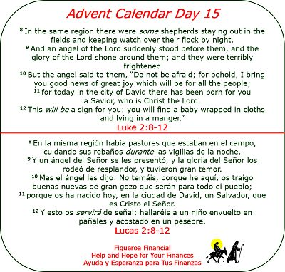 Advent Calendar Day 15 | Favorite Bible Verses | Pinterest
