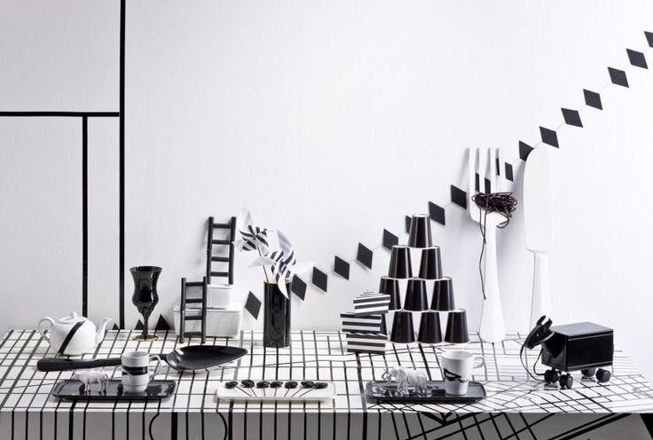 black and white party styling jenni juurinen deko party decorations pinterest. Black Bedroom Furniture Sets. Home Design Ideas