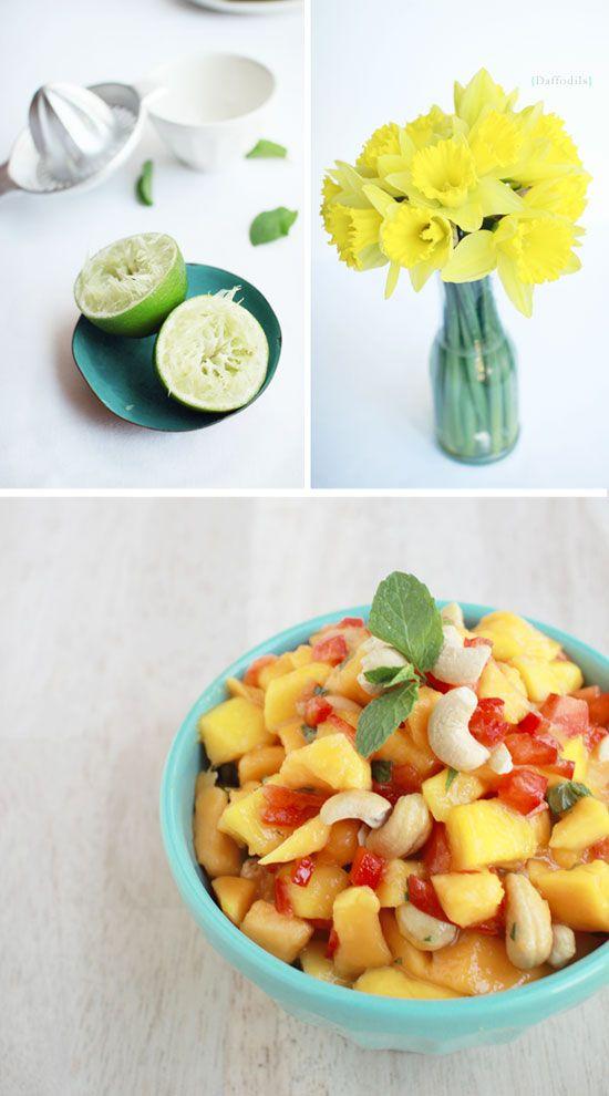 Recipe: Mango Papaya Salad with Cashews ] Made with: Hawaiian papaya ...