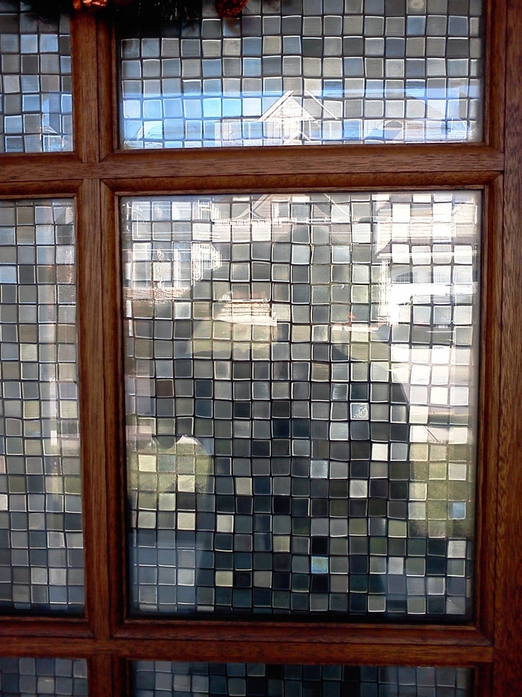 Cut Glass Mosaic window film   DIY   Pinterest