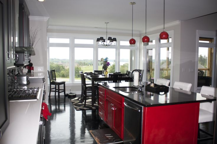 Black White And Red Kitchen My House Pinterest