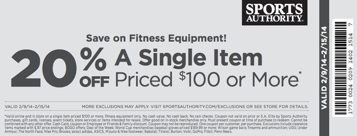 Sports authority online coupon code 2018