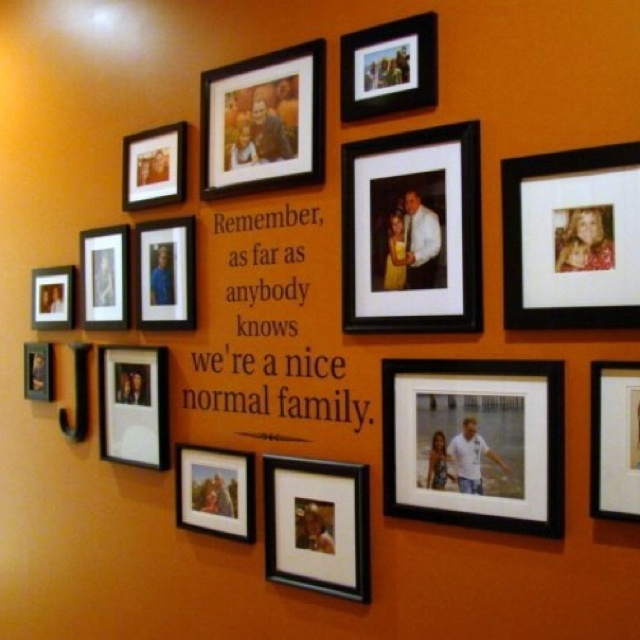 Displaying Family Pics On The Wall For The Home Pinterest
