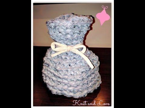 Tutorial Crochet Xxl : Video - Tutorial: Jarron de trapillo TRAPILLO - CROCHET XXL Pinte ...
