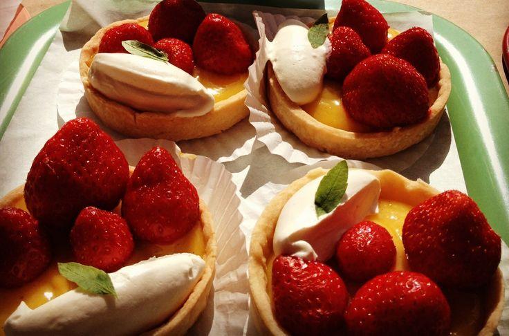 Strawberries With Chamomile Cream Recipes — Dishmaps