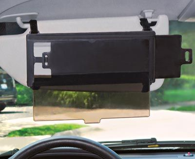 Sun visor extender for short people