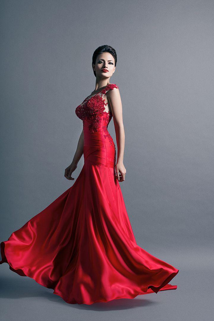 Emmanuel haute couture evening gown makeup pinterest - Emmanuel haute couture ...