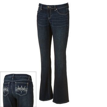 Apt. 9 Curvy Fit Bootcut Jeans - Women s