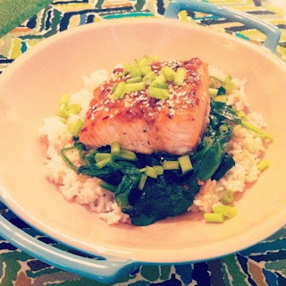 Sesame Salmon Bowl with Lime Honey Drizzle