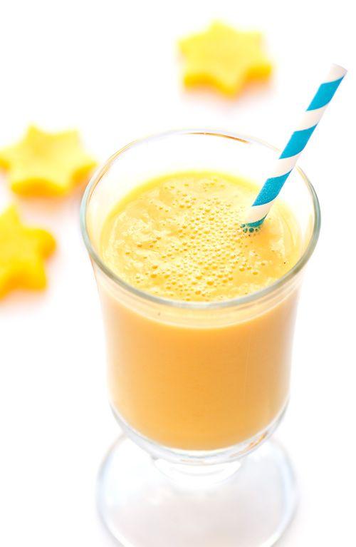 Mango Lassi 8 tablespoons of plain yogurt 8 tablespoons mango puree ...