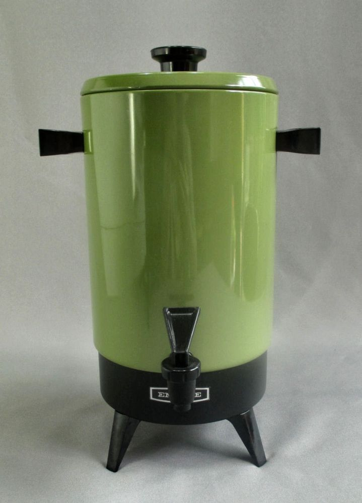 Coffee Maker 20 Cup : Vtg Empire Avocado Green 20 Cup Percolator Coffee Maker Pot 2020 21 M?