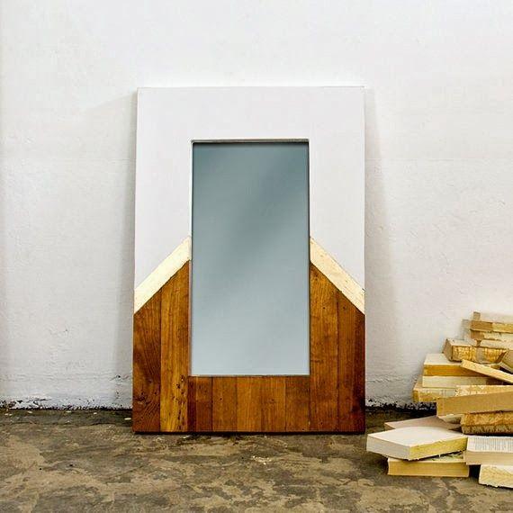 reclaimed wood mirror  design  Pinterest