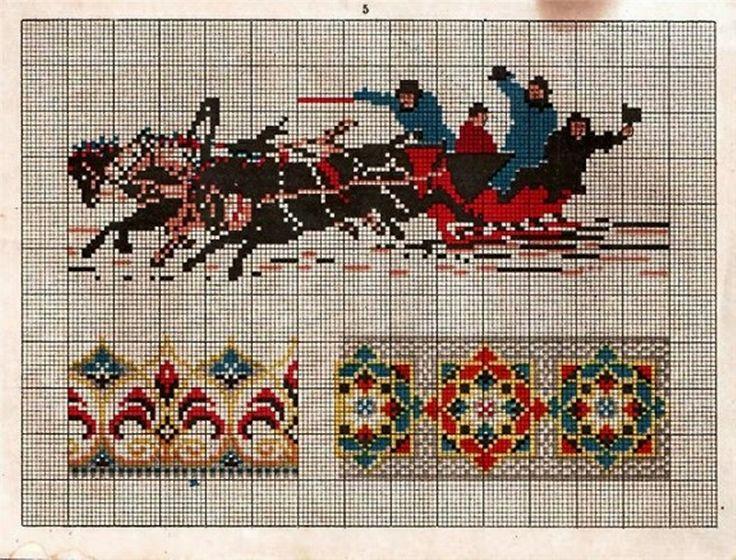 Вышивка крестом схемы старых вышивок 841