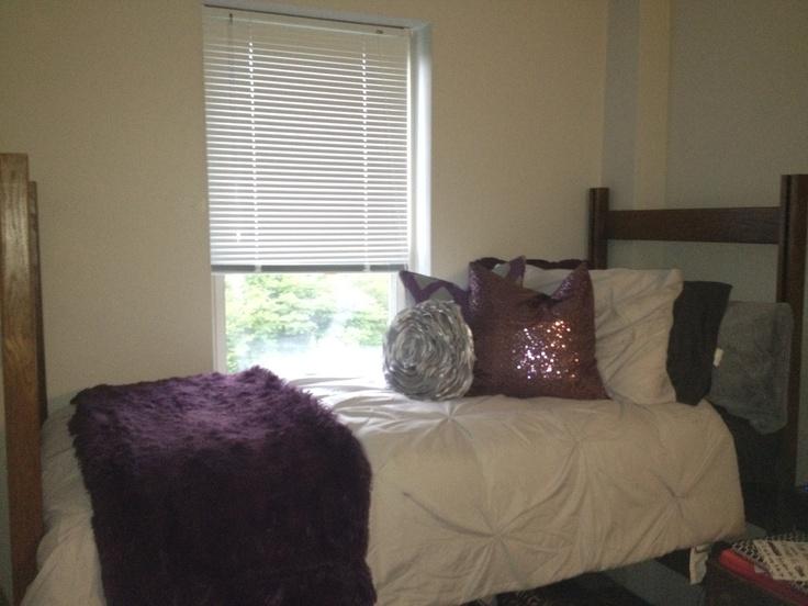 My Room! Purple and Gray Dorm  Apt ideas  Pinterest ~ 140040_Dorm Room Ideas Grey