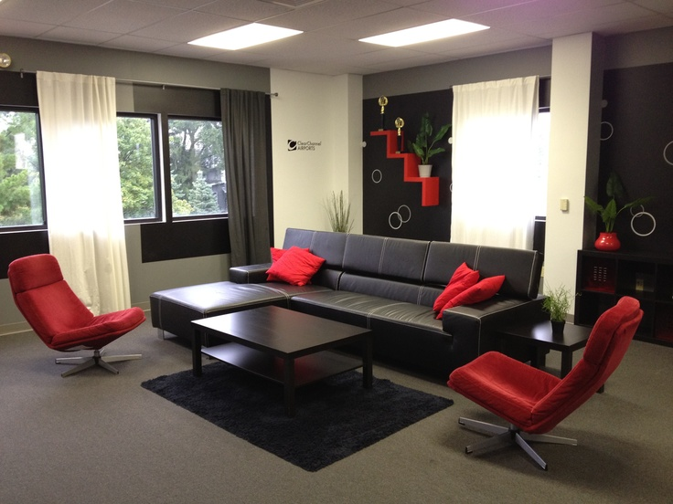 Modern office lounge space onward pinterest for Modern warehouse designs examples