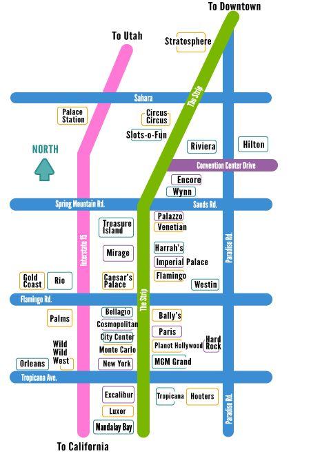 las vegas strip map linq  swimnovacom