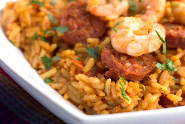Shrimp and Chorizo Rice | Seafood | Pinterest
