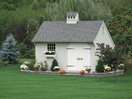 Pin by susan van der wat on garden cottage pinterest for Pretty garden sheds