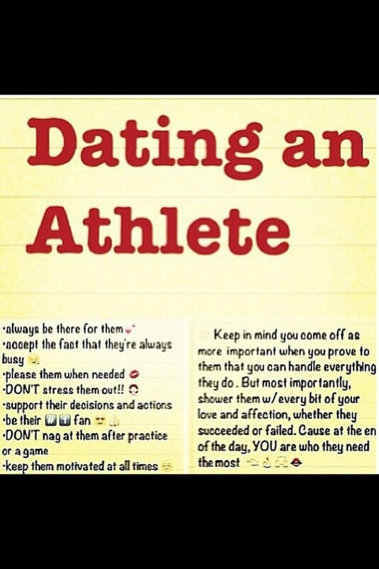 Athletes dating athletes quotes