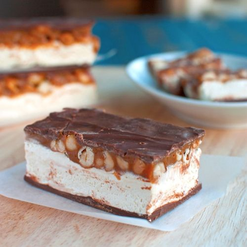 Homemade Snickers Candy Bars | Desserts | Pinterest