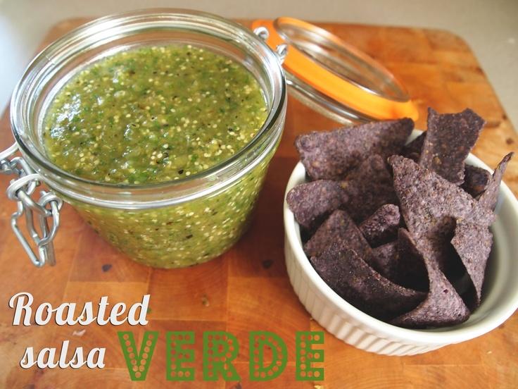 Roasted Tomatillo Salsa Verde   Yum-O! - Mexican Flavors   Pinterest