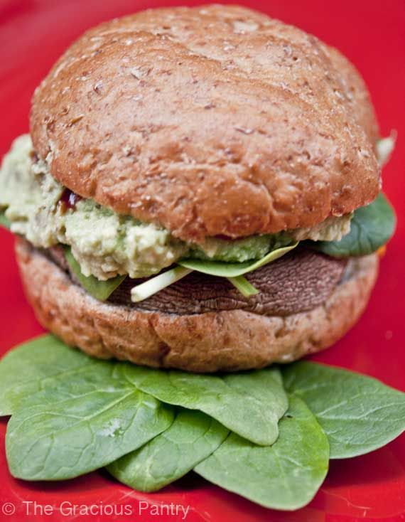 Clean Eating Portobello Mushroom Burgers | Recipe