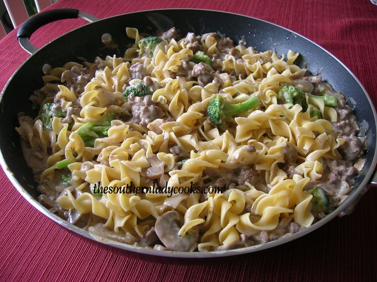 HAMBURGER STROGANOFF SKILLET | ground beef/ground meats recipes | Pin ...