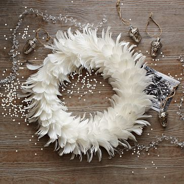 West Elm feather wreath