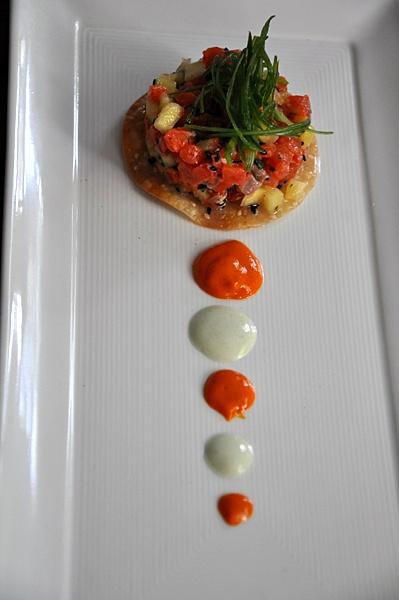 sockeye salmon tartare organic yolk chilled hollandaise salmon tartare ...