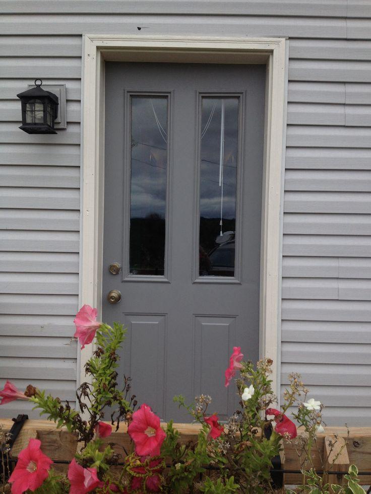 Dark grey front door | Home Decor | Pinterest