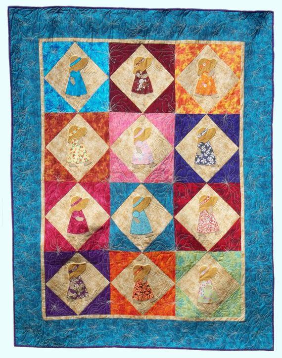 Sunbonnet Sue Hawaiian Quilt Pattern