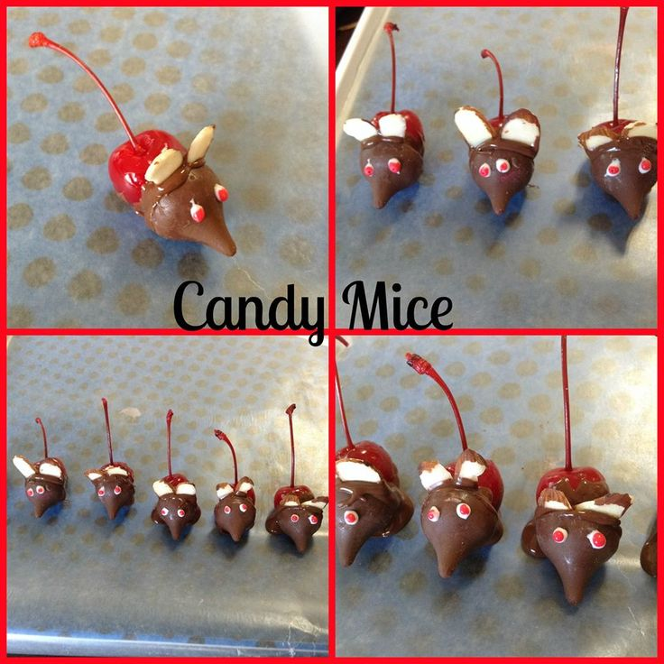 Holiday candy mice recipe food pinterest