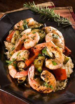 Try grilled shrimp with rosemary for a healthy, flavorful dish