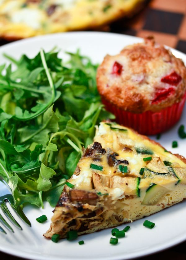 ... cheddar frittata real simple frittata with sausage wild mushrooms