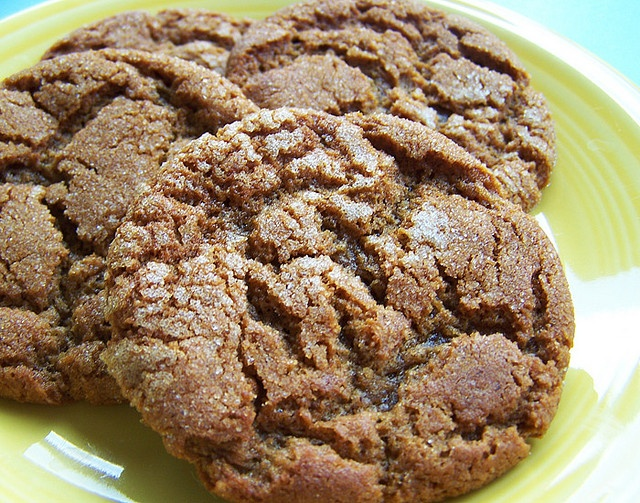 Molasses Crinkles. They are similar to sugar cookies but are flavored ...