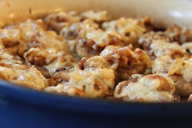 French Onion Soup Stuffed Mushrooms