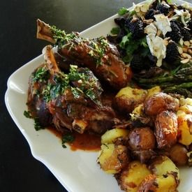 braised lamb shanks with gremolata and baked polenta braised lamb ...