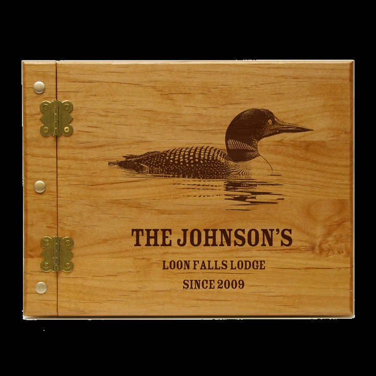 Loon Personalized Guest Book Journal 60 Lake Cabin