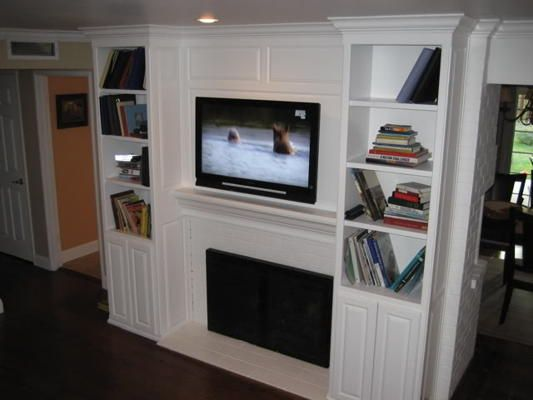 Flat Screen Tv Over Fireplace For The Home Pinterest