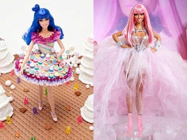 Katy Perry and Nicki Minaj Barbie Dolls   Barbie Girl ...