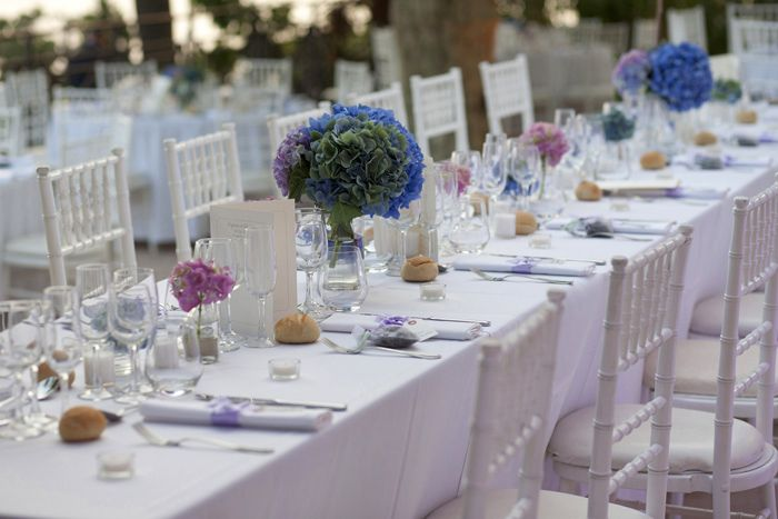 Décoration table mariage hortensias  Mariage -décoration table ...