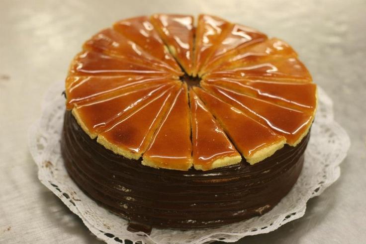 Vanilla Fleur De Sel, Caramel And Chocolate Dobos Torte Recipe ...