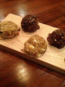 healthy cookies! orange zest dark chocolate nom-noms