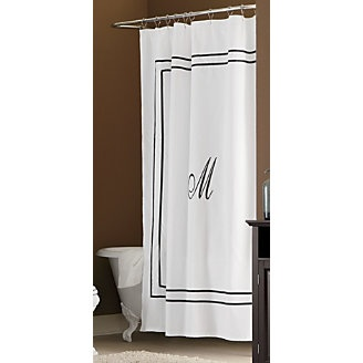 monogrammed shower curtain for the home pinterest