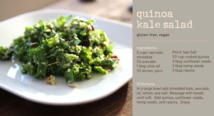 Quinoa Kale Salad | Gobbled Up | Pinterest